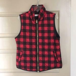 Jackets & Blazers - Plaid Puffer Vest