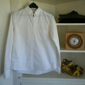 Uniqlo Tops - White oxford button down relaxed shirt Uniqlo