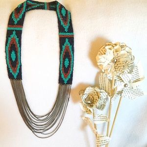 Obey Jewelry - OBEY beaded multi strand antique brass necklace