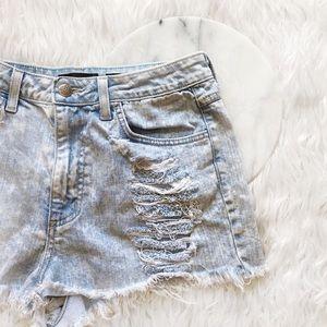 Pants - • High Waisted Jean Shorts •
