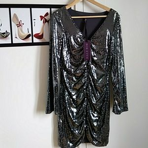 Hale Bob Dresses & Skirts - NWT shimmery silver gorgeous cocktail dress
