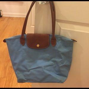 Light Blue small Longchamp bag