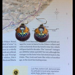 Jewelry - 💐Vintage enamel butterfly earrings