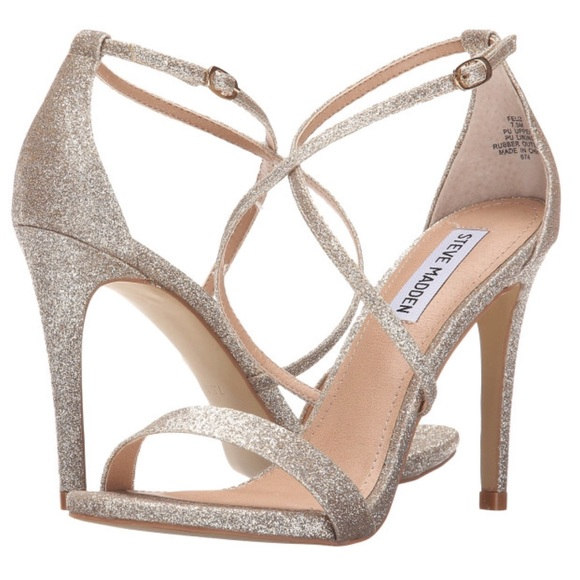 Steve Madden Shoes - Gold Sparkle Sandals