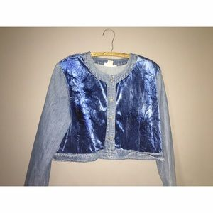 Frankie D Denim Jacket Sz 18