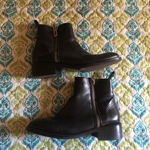 Zara Basic Leather Boots