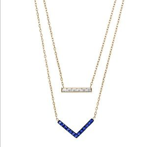 Michael Kors Jewelry - Michael Kors Chevron and Bar Necklace
