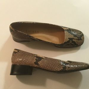 Lauren Ralph Lauren Shoes - Lauren Ralph Lauren snake skin shoes size 7 1/2 B