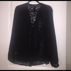 Ann Taylor Tops - Sheer leopard blouse