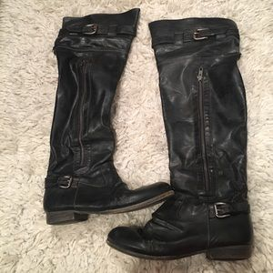 Bakers Shoes - Bakers Distressed Knee High Leather Boots 💥SALE💥