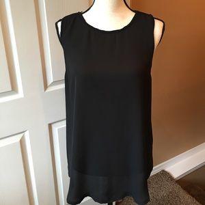 Valette Tops - Sleeveless Sheer Black Tunic