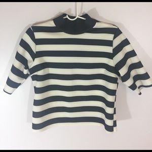 Zara Tops - NWT Zara Turtleneck Striped Tee Blouse