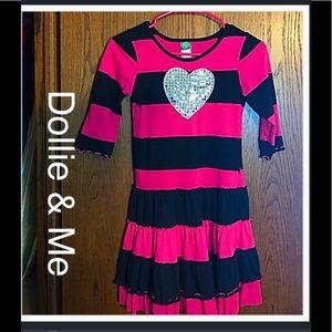 Dollie & Me Other - 🎈BOGO 1/2🎈 Dollie & Me Pink & Black Dress