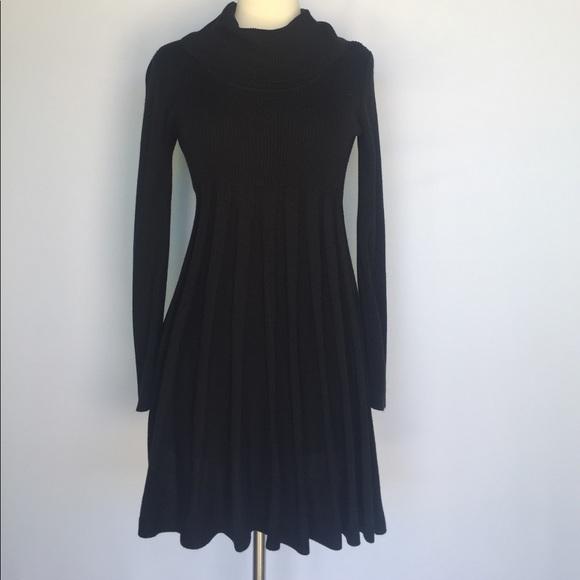 a3a86e35f9 Calvin Klein Dresses   Skirts - Calvin Klein black pleated cowl neck  sweater dress
