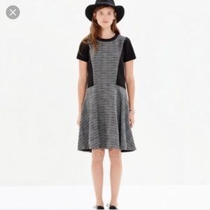 Madewell Tweed dress with black panels