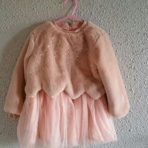 Other - Toddler winter dress, fur top with tulle bottom