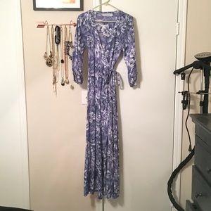 Faithfull the Brand Dresses & Skirts - Floor-length floral wrap dress, UK 8, US 4.