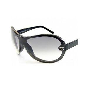 CHANEL Accessories - Chanel Shield Black Sunglasses