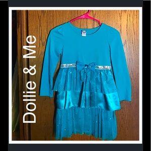Dollie & Me Other - 🎈BOGO 1/2🎈 Dollie & Me Sparkling Teal Dress