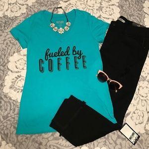 "Salt Lake Clothing Tops - New ""coffee"" graphic tee"