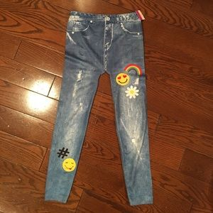 Capelli of New York Other - Capelli Kids ripped jeans w/patches leggings NWT