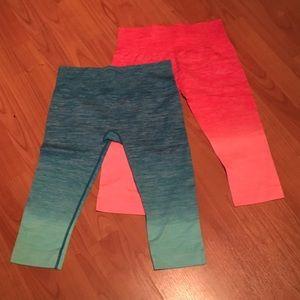 Pants - Set of two yoga workout Capri pants