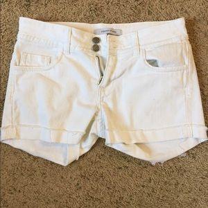 Vigoss Pants - Vigoss White Jean Shorts