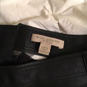 BURBERRY Lambskin Leather and suede skirt