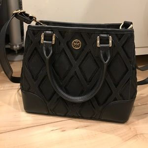 Tory Burch Robinson Patchwork Mini Square Tote