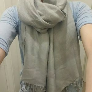 Pashmina  Accessories - Gray Scarf