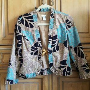 Anthropologie Jackets & Blazers - Anthropologie Corduroy Floral Odille Blazer