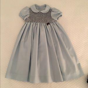 Luli & Me Other - Luli & Me blue smocked dress