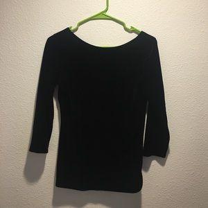Boston proper black velvet top