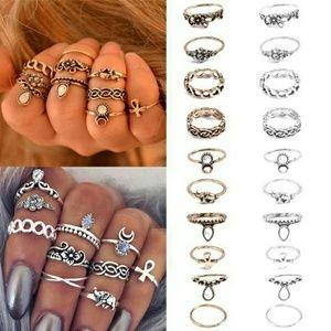 Jewelry - Retro 10Pcs Set Boho Fashion rings
