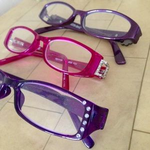 Foster Grant Accessories - NWOT +150 Readers, 2 Purple, 1 Fuchsia