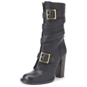 Tory Burch Shoes - Tory Burch Jaden Strapped Heeled Boots Black 9