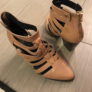 Kelsi Dagger Shoes - Kelsi Dagger Tan Ankle Boot
