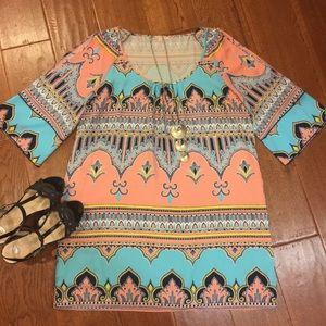 Gibson Latimer Dresses & Skirts - Beautiful Moroccan tile dress