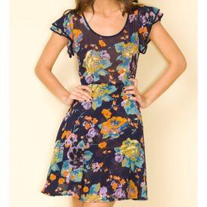 Motel Rocks Dresses & Skirts - Motel Rocks Pretty Rose Navy Dress