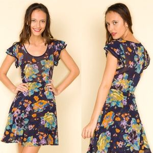 Motel Rocks Dresses & Skirts - Motel Rocks Pretty 🌹Rose 🌹Navy Dress