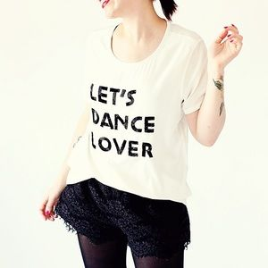Lovers + Friends Tops - Lovers + Friends Let's Dance Lover Tee XS
