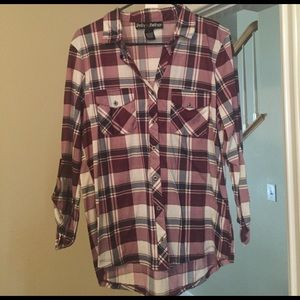 Polly & Esther Tops - Flannel shirt