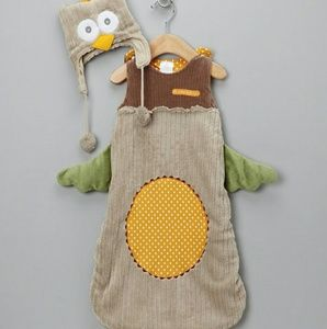 "Baby Aspen Other - Baby Owl ""Sleeping Sack"" PJ's & Cap 3-9 Mo. *NWT"