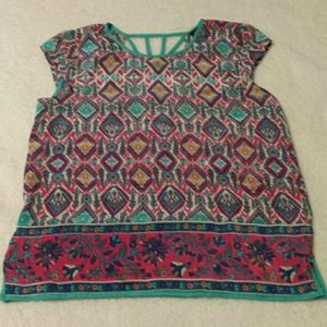 Tolani Tops - Tolani 100% Silk Blouse. Sz Sm, Will Also Fit Med)