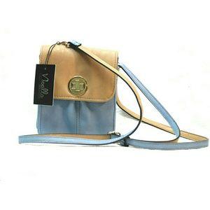NOELLE Handbags - 💕NEW💕NOELLE TEAL & TAUPE TURN LOCK CROSSBODY