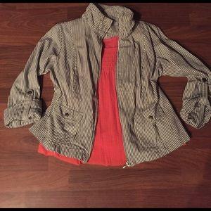 Ami Jackets & Blazers - Striped denim jacket