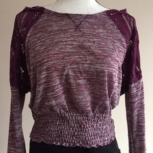 Free People Tops - We the FREE PLUM COLOR KNIT TOP XS
