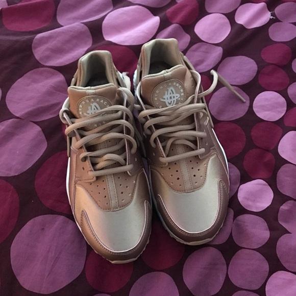 Rose gold huarache sneakers
