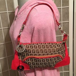 Fendi Handbags - Authentic Classic Zucca Boston Fendi Purse