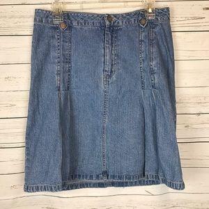 knee length jean skirts on Poshmark